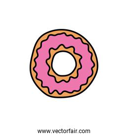 delicious sweet donut bakery icon