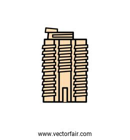 new york building fill style icon