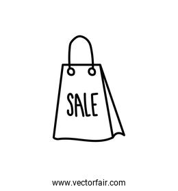 shopping bag paper isolated icon
