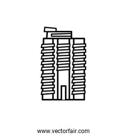new york building line style icon