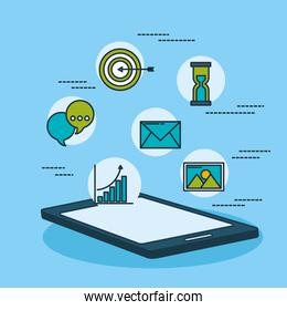 digital marketing technology with tablet