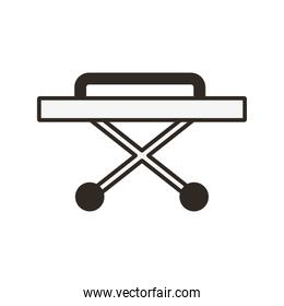 stretcher medical equipment isolated icon
