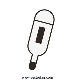 medical thermometer tool flat style icon