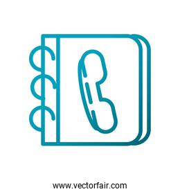 address book telephone contacts communications gradient line