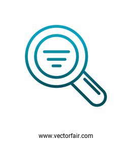 magnifying glass search analysis communications gradient line
