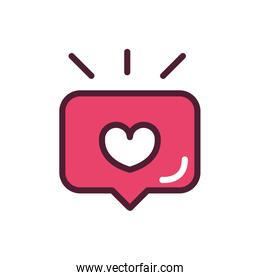 happy valentines day speech bubble heart love romantic feeling icon