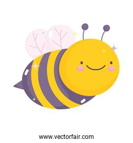 kawaii gardening cartoon cute bee character