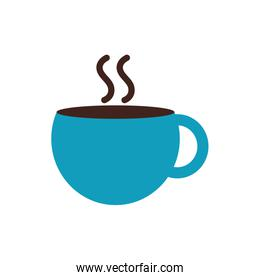 Isolated coffee cup flat style icon vector design