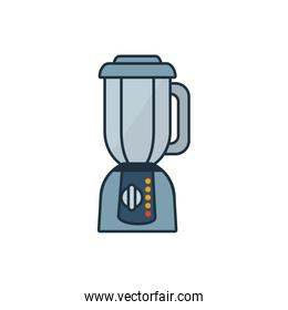Isolated blender appliance line and fill style icon vector design