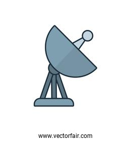 Isolated antenna line and fill style icon vector design