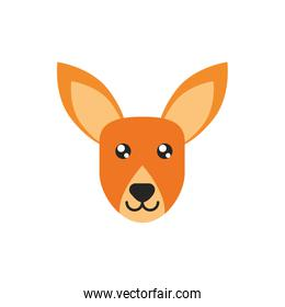 kangaroo head animal wildlife australia icon on white background