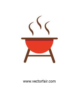 grill barbecue icon on white background