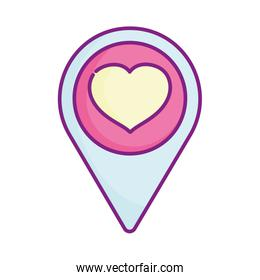 happy valentines day, pointer location love heart passion