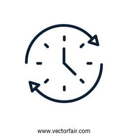 time clock all day service linear design