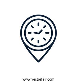 time clock location pointer linear design
