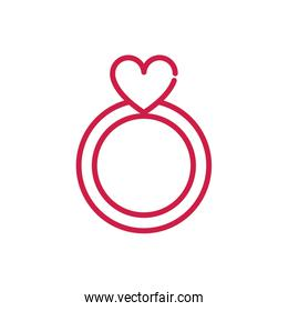 happy valentines day cute ring jewelry heart red line design