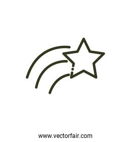 shooting star sky nature line design
