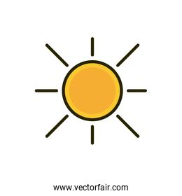 hot sun summer weather nature drawing
