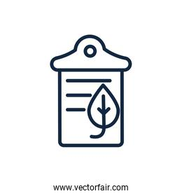 paper recycle ecology environment icon linear