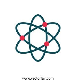 atom chemistry science education school icon design