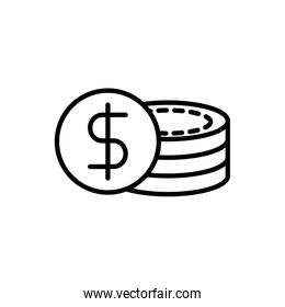 stacked coins currency business cash money line design
