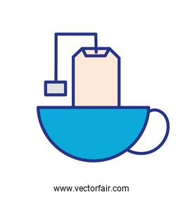 tea bag in cup icon