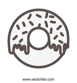 sweet donut pastry product isolated icon