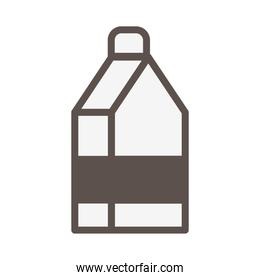 milk box carton isolated icon