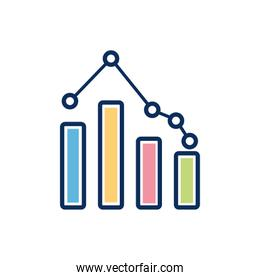 financial statistics bars infographic isolated design