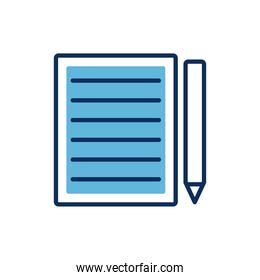 paper financial document with pencil