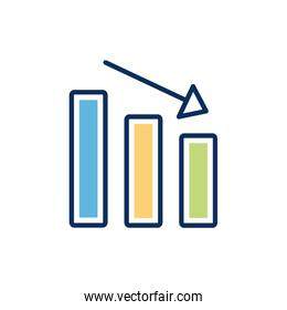 financial statistics bars infographic isolated icon
