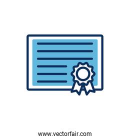 graduation certificated diploma isolated icon