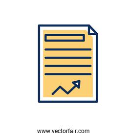 paper financial document isolated icon