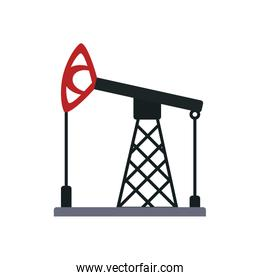 oil pump icon, flat style