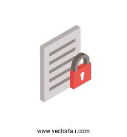 paper document with padlock icon