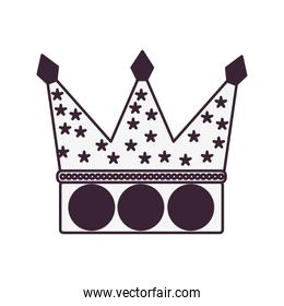 crown fairytale object isolated icon