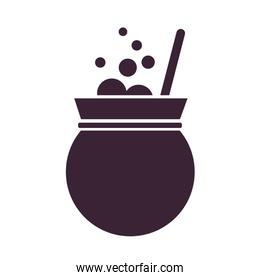 cauldron witch fairytale object isolated icon