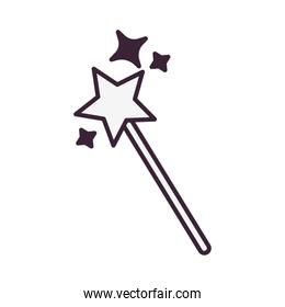 wand fairytale object isolated icon