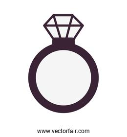 ring with diamond isolated icon