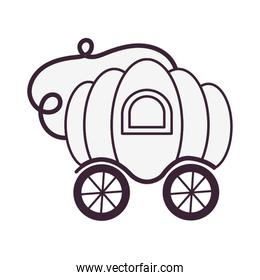 pumpkin carriage fairytale object isolated icon