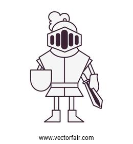warrior fairytale character isolated icon