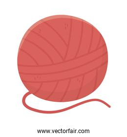 red wool ball for knitting