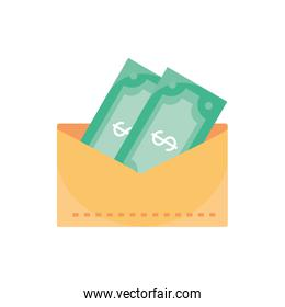 envelope with bills currency money business finance