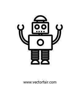 robot automation technology character artificial machine linear design