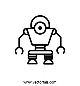 robot android technology character artificial machine linear design