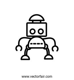 robot science artificial technology character linear design