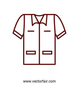 safety shirt icon, line style