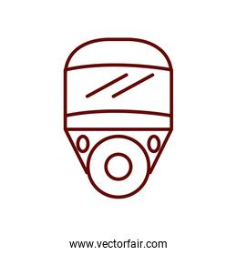safety face mask icon, line style