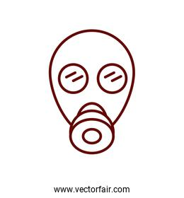 gas mask icon, line style