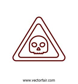danger sign icon, line style